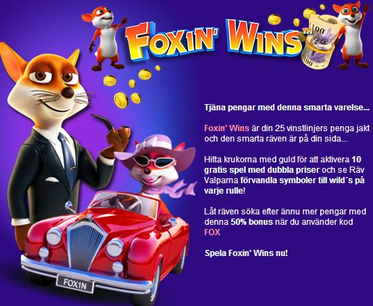 foxin wins bonus