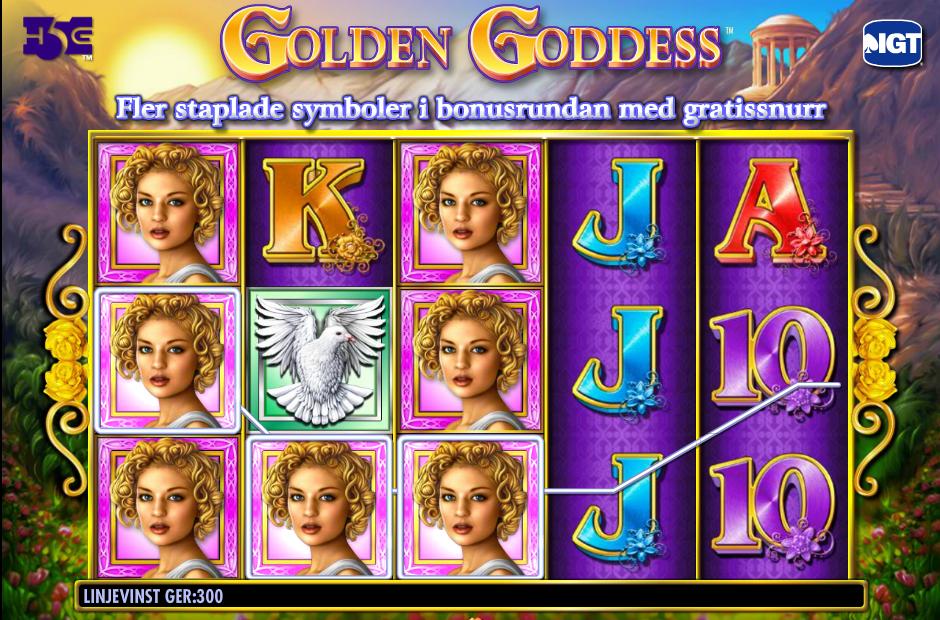 golden goddness slots spelet